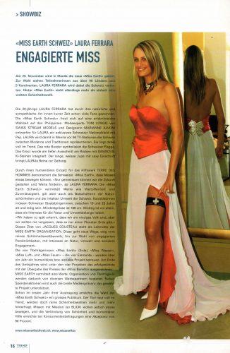 Engagierte Miss - Miss Earth