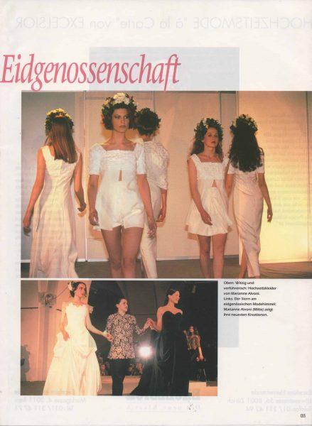 Haute - Couture aus der Eidgenossenschaft 1