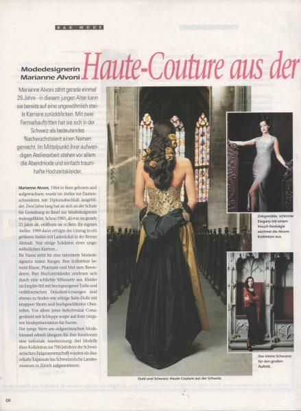 Haute - Couture aus der Eidgenossenschaft